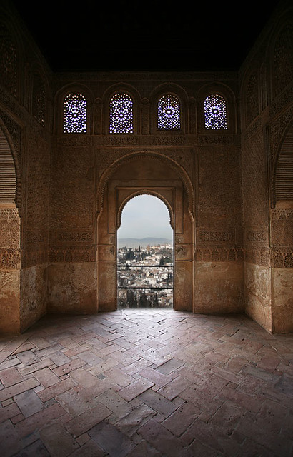 Inside Alhambra The Alhambra In Granada Spain At The