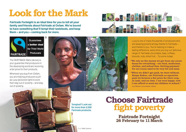 Fairtrade Leaflet Inner Fairtrade Fortnight Promotion