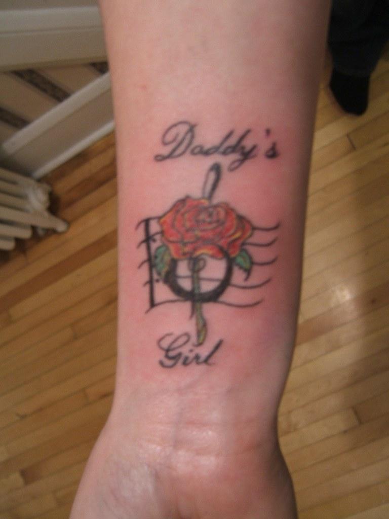 Memorial Tattoos Dad Daughter