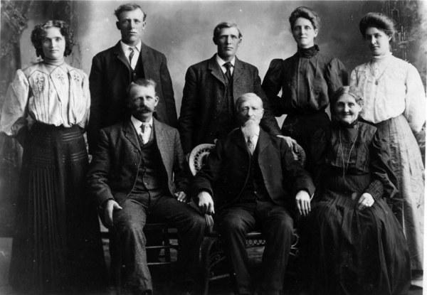 andrew johnson family photo see txt file Back row