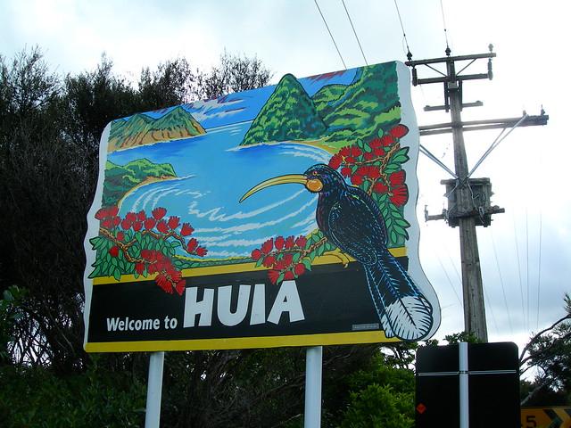 Huia Sign