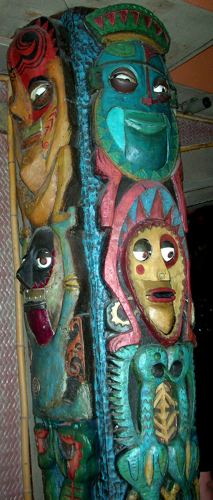 Tiki Room Totem Pole Sings the Hawaiian War Chant  Tiki