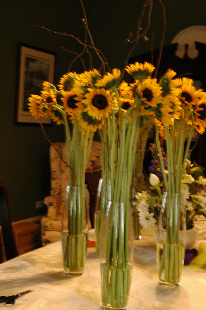 Sunflower Centerpieces  The Gypsy Wagon  Flickr