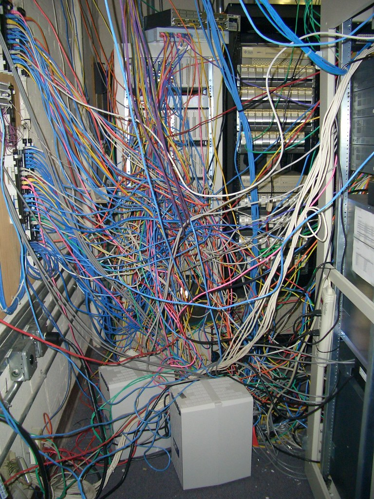 Network B Wiring Network Spagetti These Are The Connections Between The