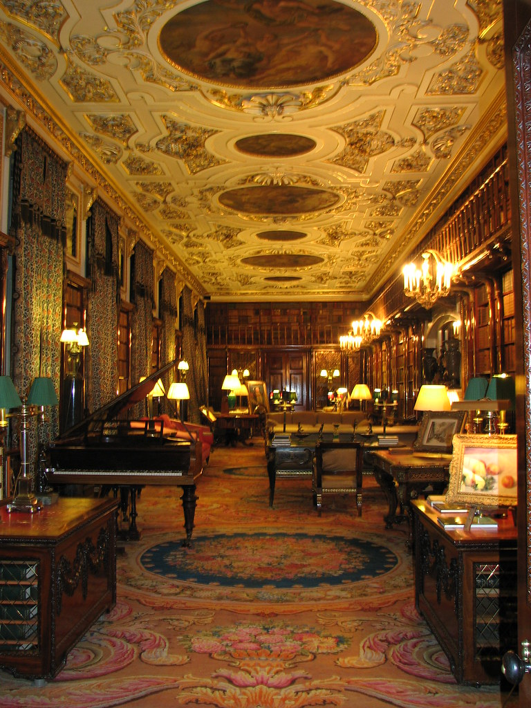 Chatsworth House Interior England  This room once a