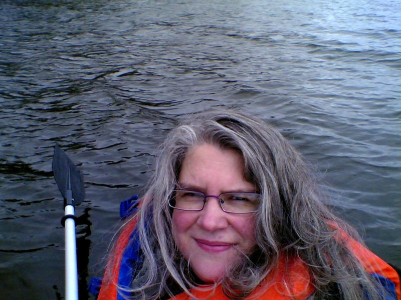 Self Portrait in Kayak