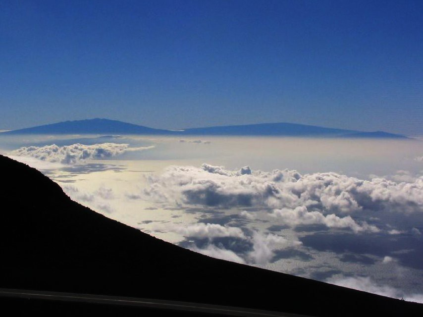 The Big Island from Maui as seen from Haleakala Visitor C
