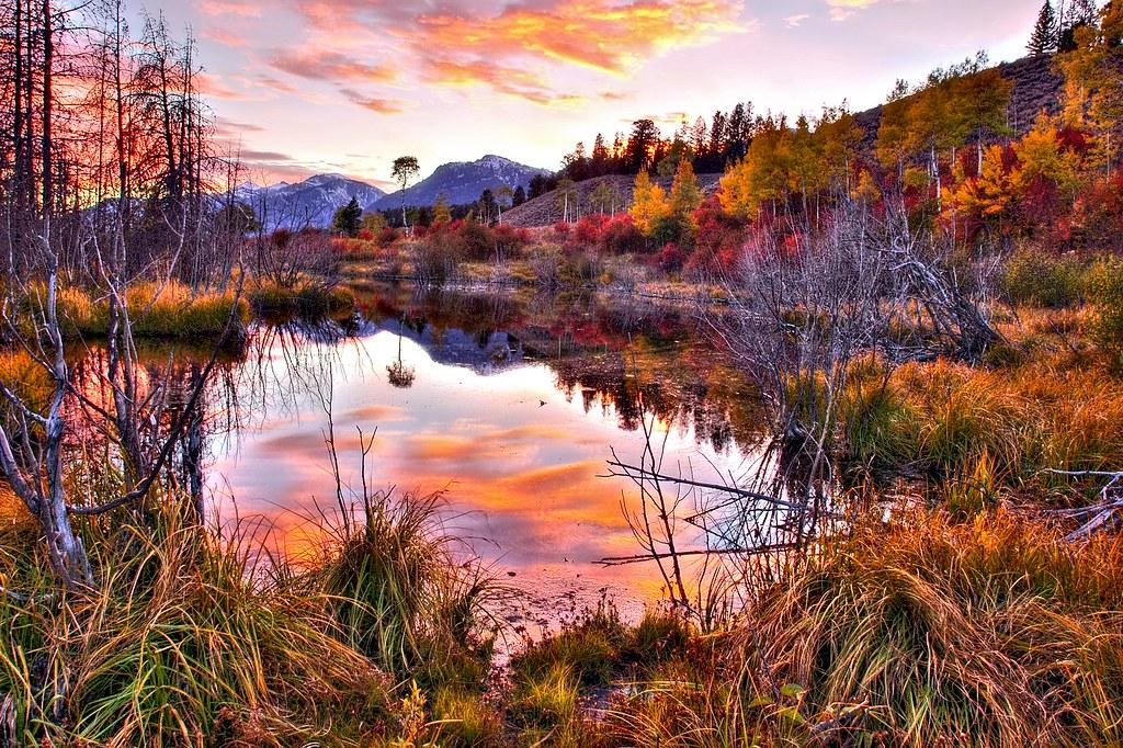 Free Fall Desktop Wallpaper Widescreen Sundown At Rivendell Sundown At Grand Teton National