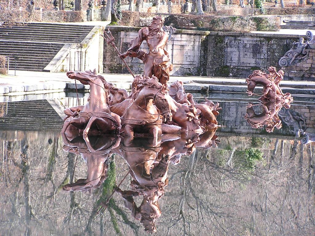 Fuente de la Carrera de Caballos Fuente de Neptuno Jardines Palacio Real La Granja Segovia 64