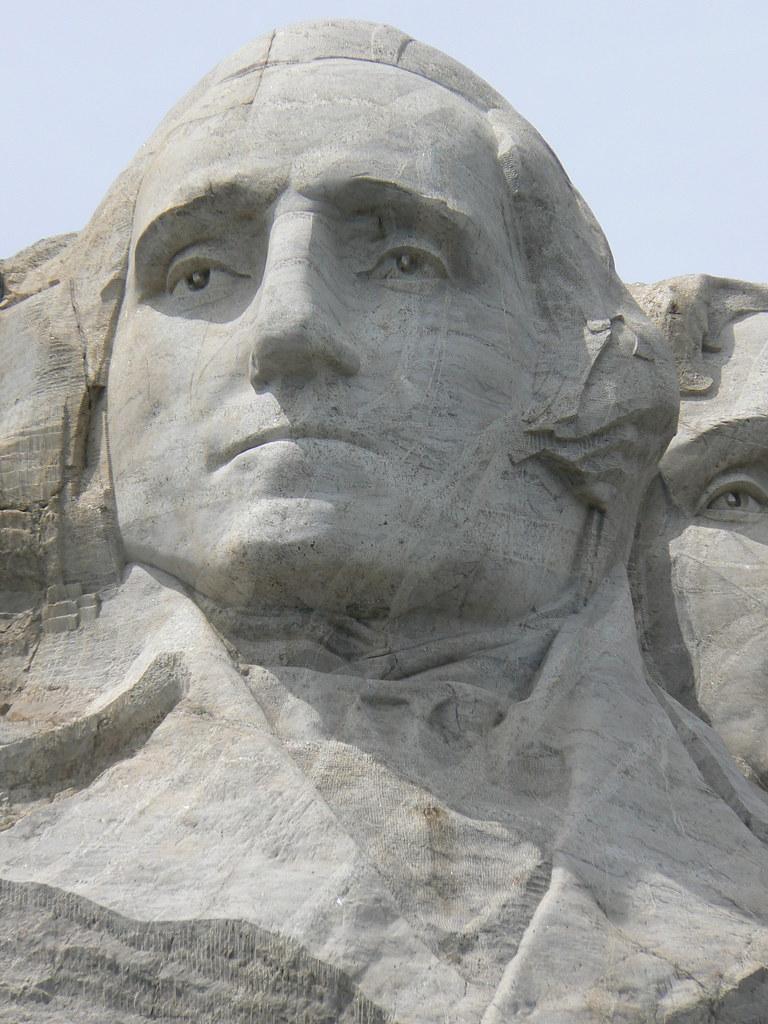 George Washington  Mt Rushmore  Had some issues taking
