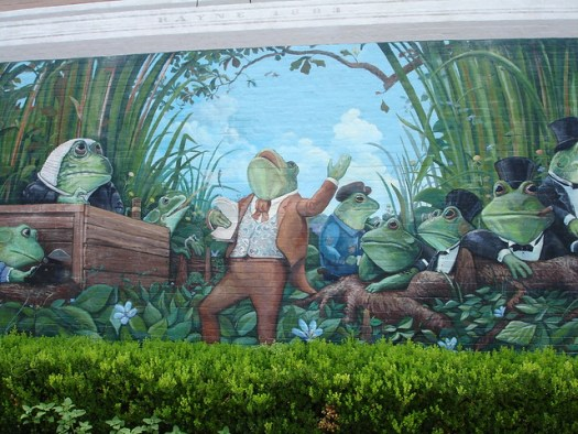Downtown Mural, Rayne LA, Frog Capital of the World