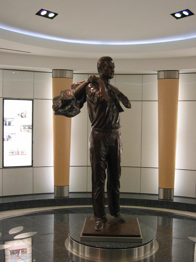 George H W Bush Statue  We flew through Houston TX on our   Flickr