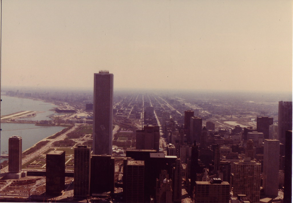Chicago in the 1980s  Looking South From the John Hancock