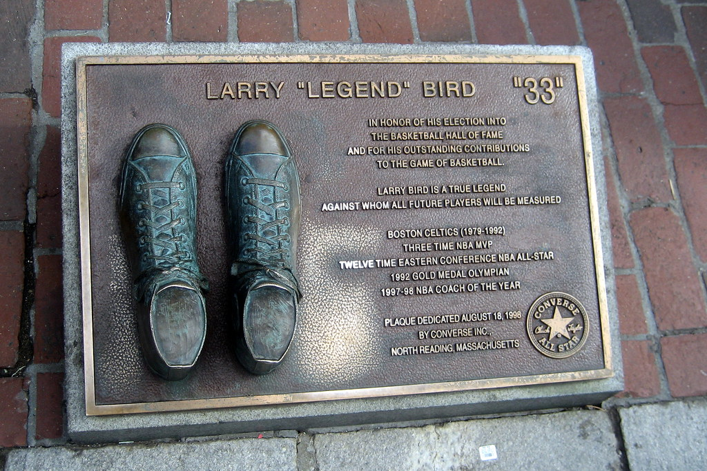Boston  Faneuil Hall  Larry Bird plaque  On August 18
