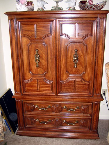 SOLD   Thomasville Pecan BR ARMOIRE  THOMASVILLE