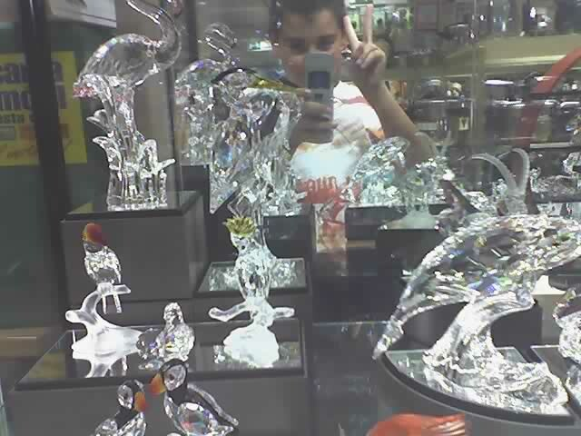 Las figuras de cristal  Estas son unas figuras de cristal