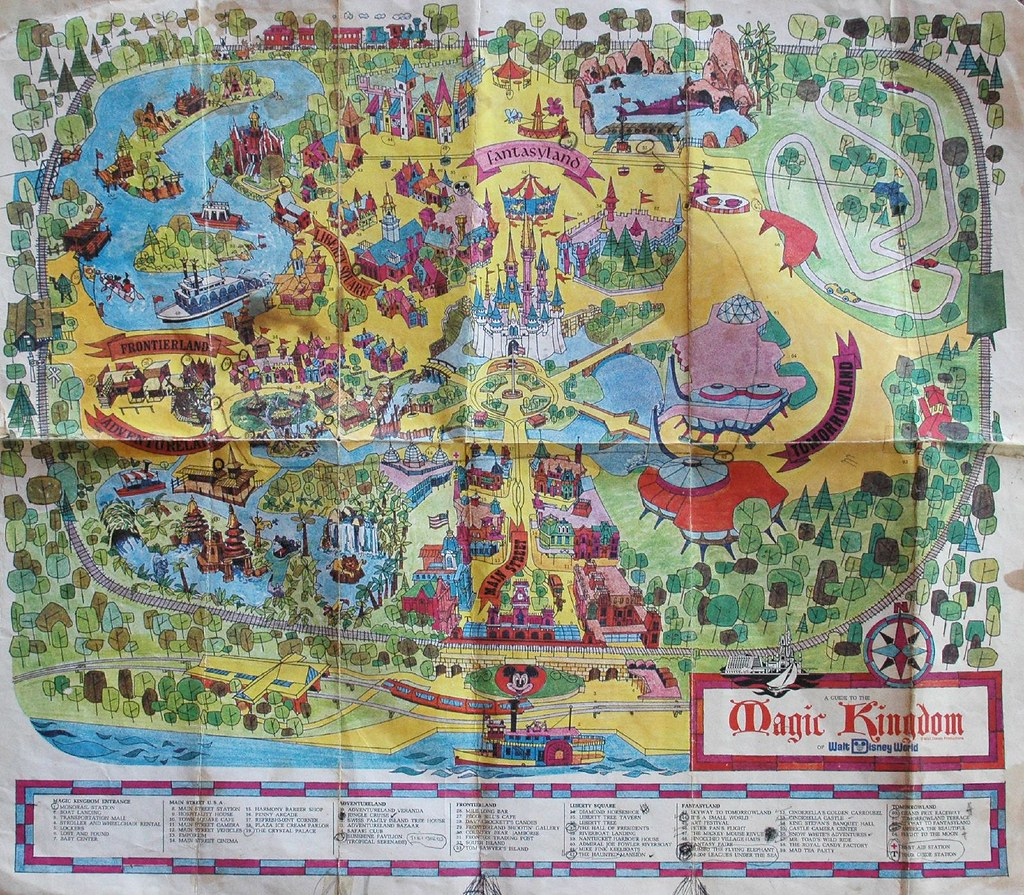 Magic Kingdom Map 1970s Sometime Best Viewed Large