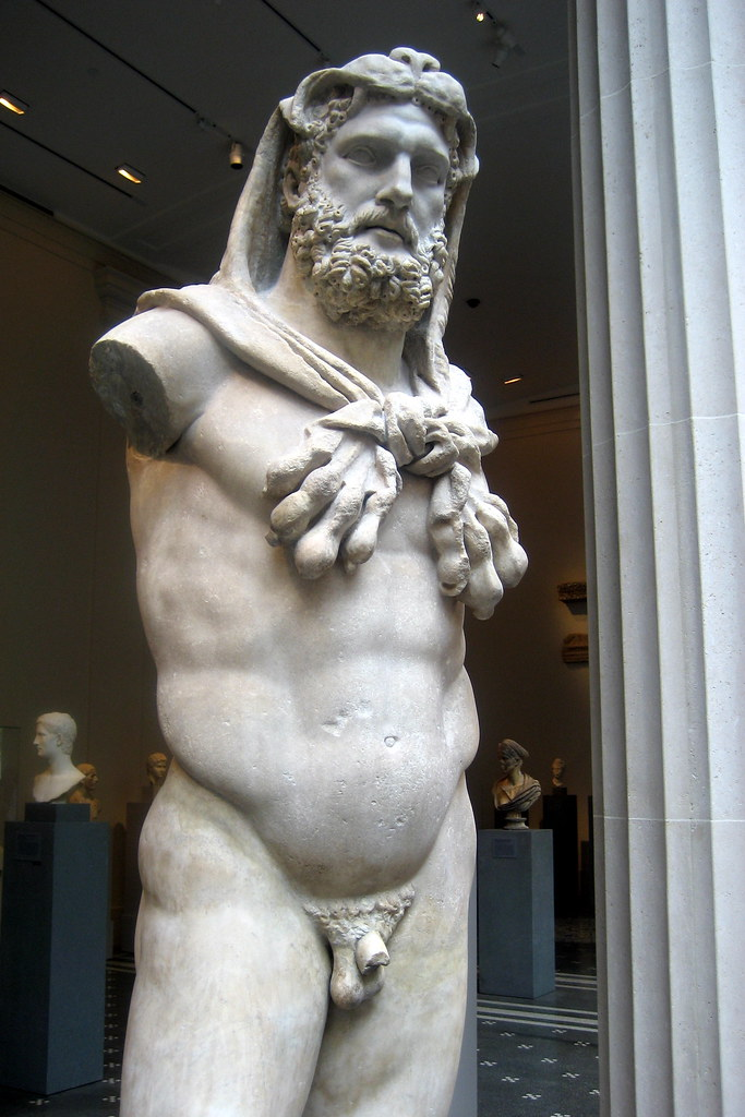 NYC  Metropolitan Museum of Art  Statue of bearded Hercu
