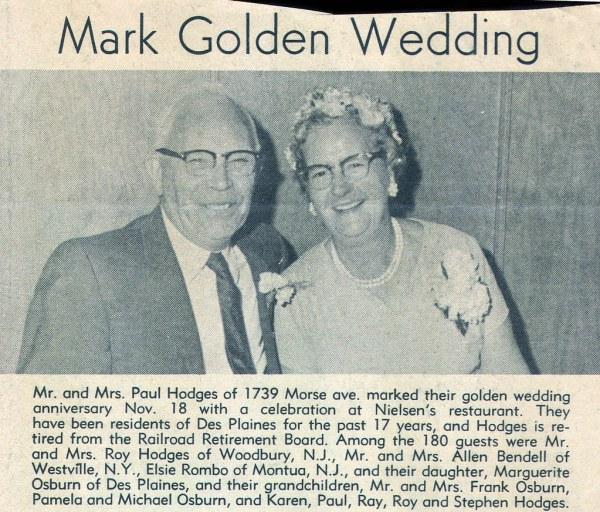 50th Anniversary Newspaper Announcements Examples
