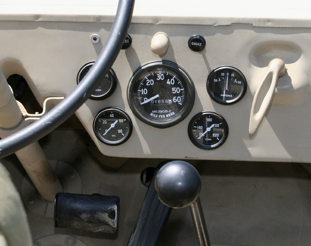 Willys Wiring Diagram Willys Jeep Instrument Cluster Gauges And The