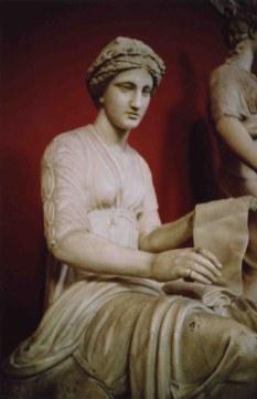 A statue of Clio.