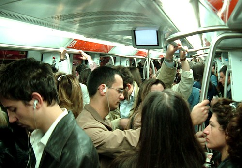 Crowded subway car in Rome   2007 by Todd Mecklem  Flickr