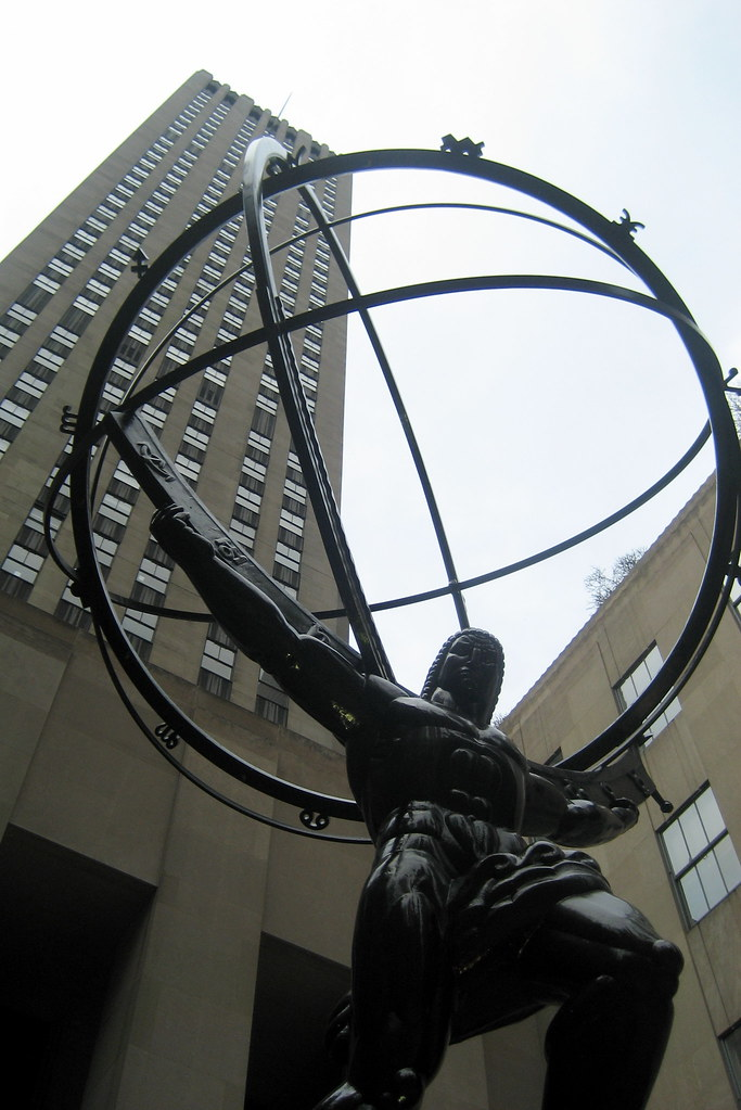 NYC  Rockefeller Center Atlas and GE Building  This