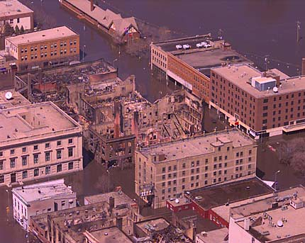 Downtown Grand Forks During the 1997 Flood  I found this