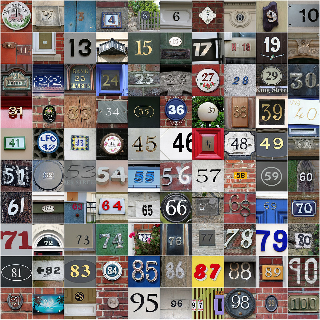 Property Numbers Mosaic 01