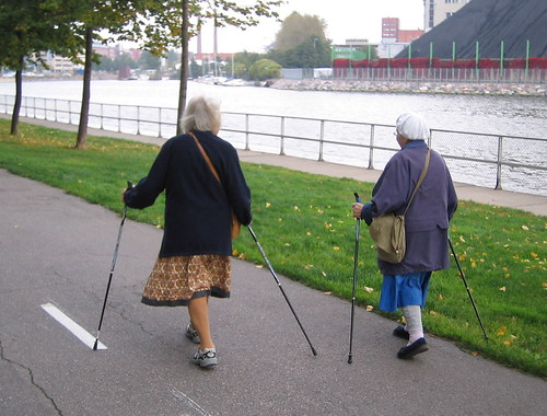 Nordic Walking grannies  They are all over the place It no  Flickr