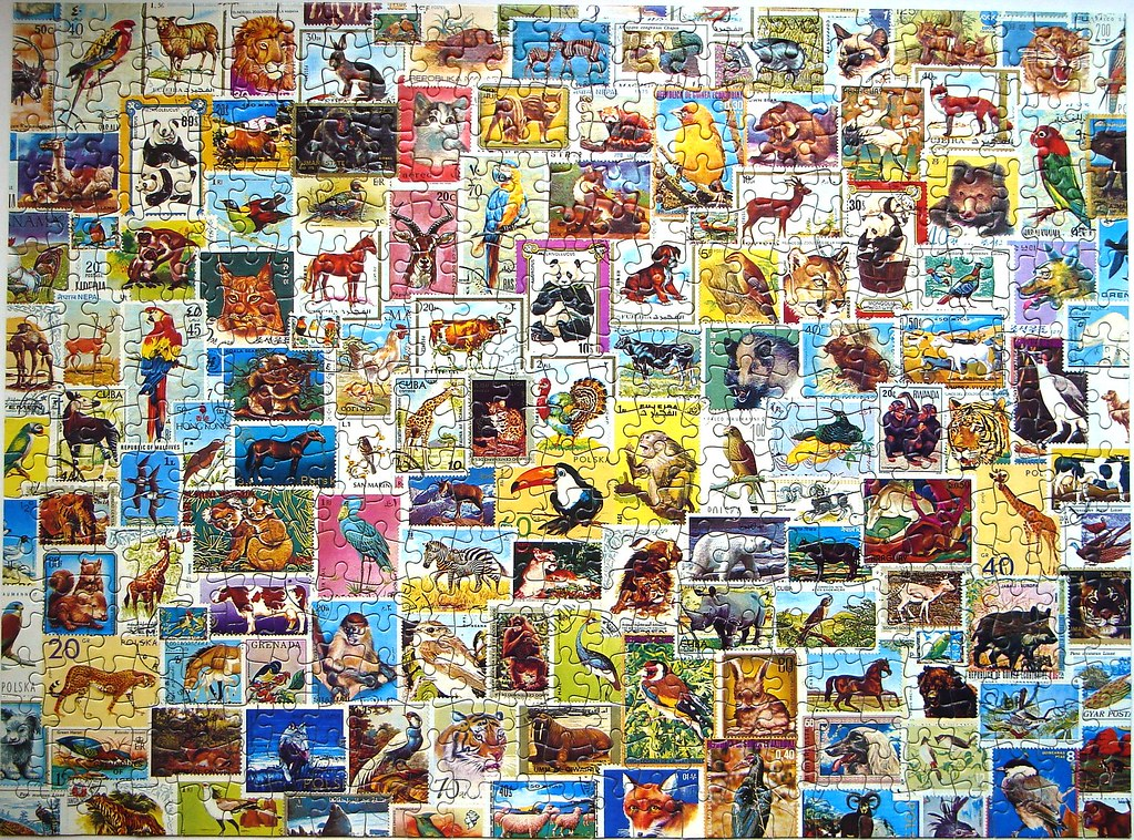 Stamp Collage Jigsaw  No brand  made in the UK 500 p