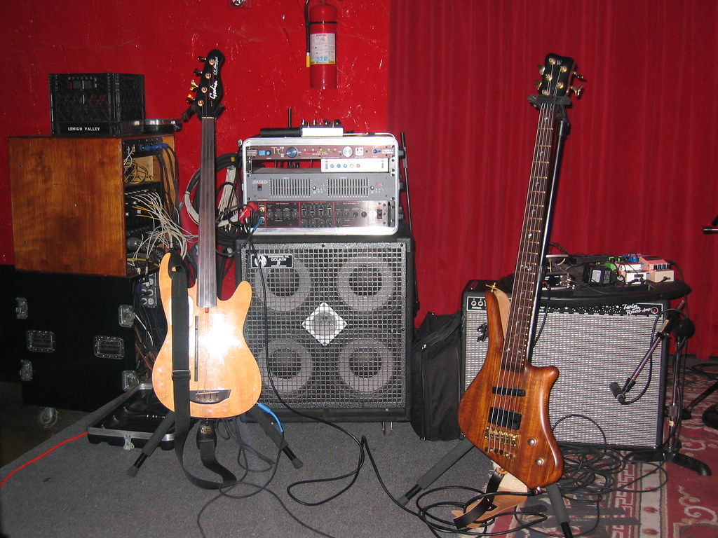 My Touring Bass Rig  My touring bass rig had more basses   Flickr