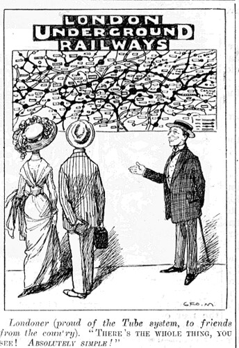 Cartoon From Punch Showing The Simplicity Of The Old Londo