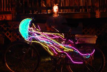 Jellyfish Bike  I made this bike for Burning Man 2002