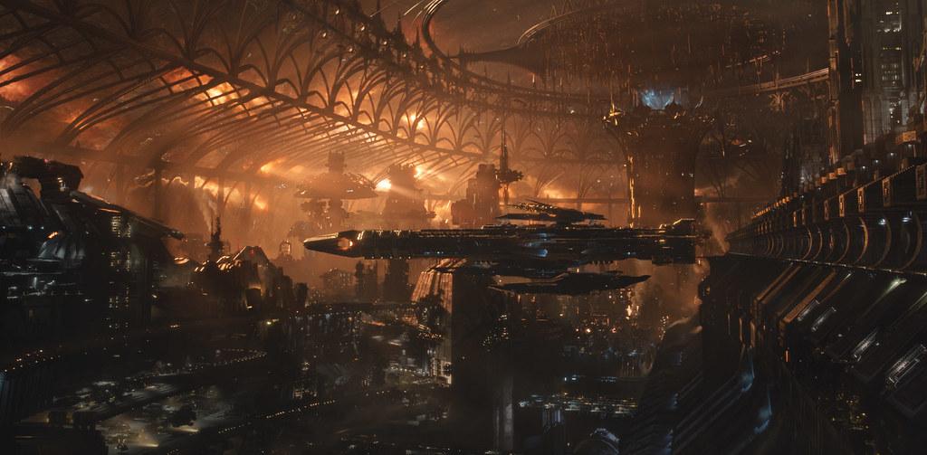 De CGI in Jupiter Ascending is echt wel knap!