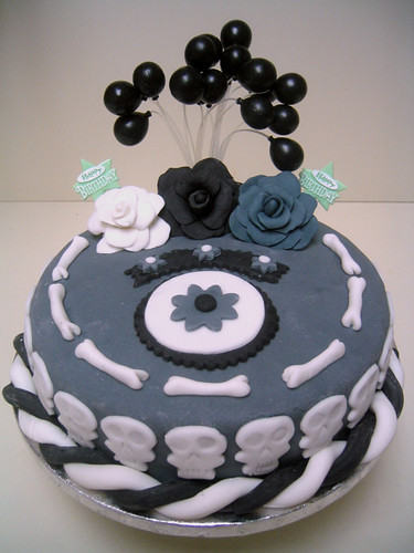 Skull  Bones Cake Inspired by Tim Burtons Corpse Bride  Flickr