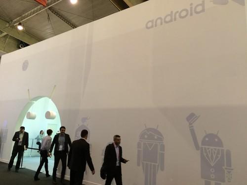 Stan de Android OS, en el MWC.