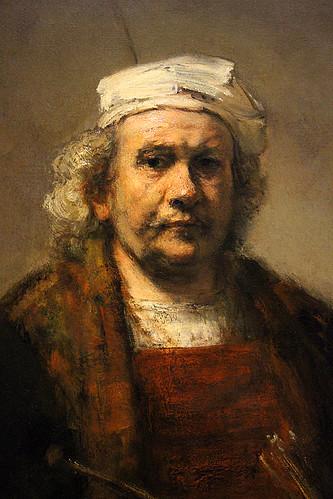 Rembrandt van Rijn Selfportrait with Two Circles detail