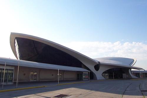 Exterior Eero Saarinens abandoned TWA Terminal JFK Airp