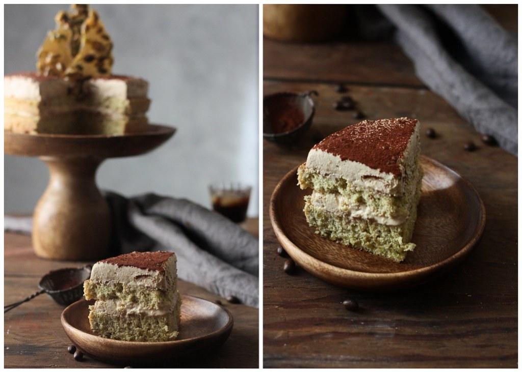 PISTACHIO CAKE WITH CARDAMOM COFFEE CREAM |foodfashionpary|