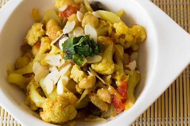 Curry rápido de coliflor