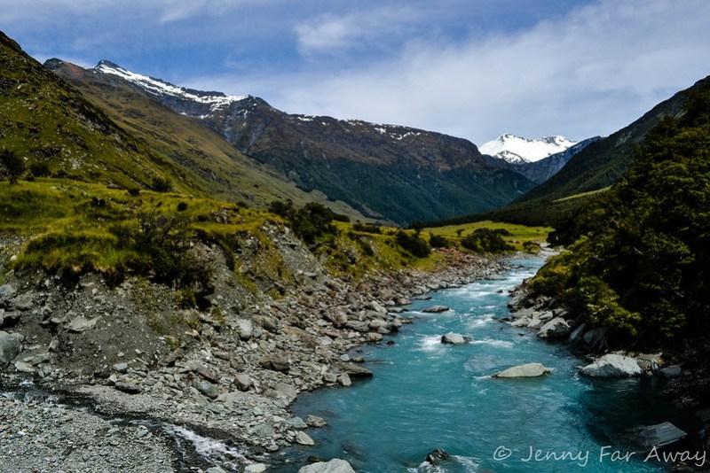 At the beginning of the Rob Roy Glacier walk.