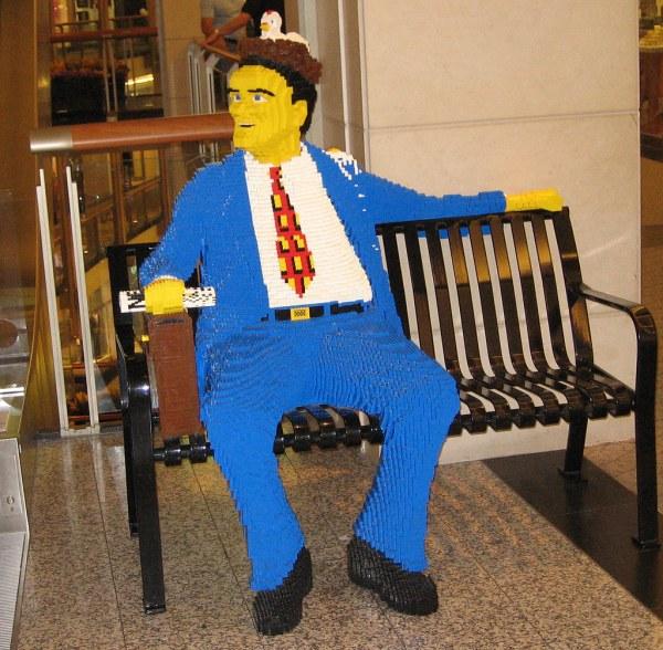 Lego Man Sculpture Blocks