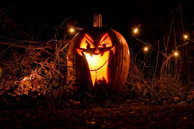 Fall Pumpkin Wallpaper Hd Scary Jack O Lantern One Of The Many Pumpkins At Great