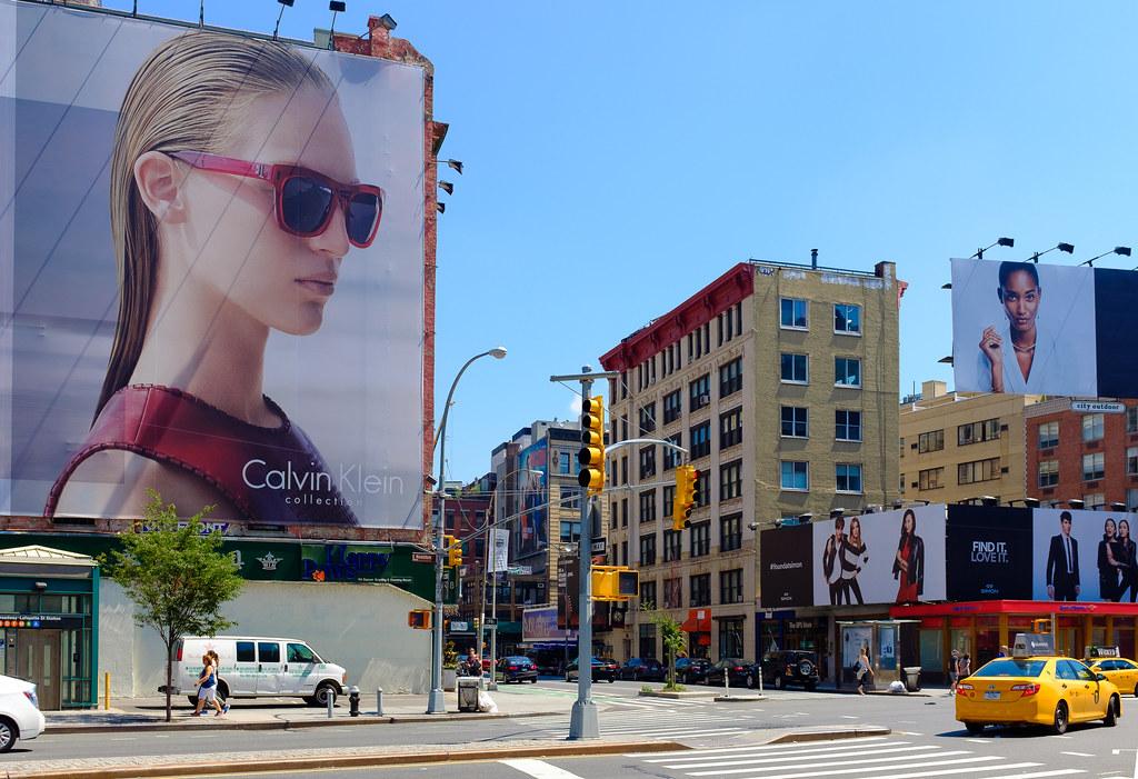 New York City Street Scenes  Advertising Billboards on Ea
