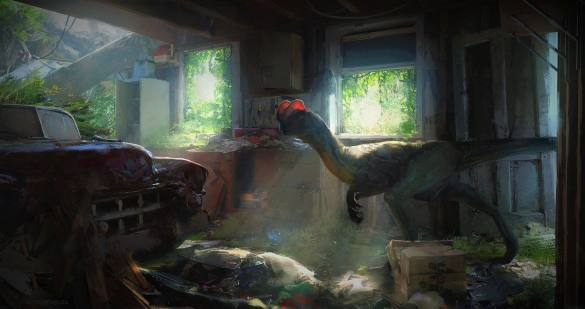 Jurassic Park Dilophosaurus por Lee Fitzgerald 2017