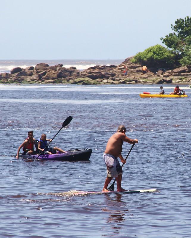 Boca da Barra é local de lazer em Itanhaém