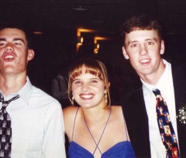 High School Years Chris Me And Mike At Homecoming Senior Year By Ronnie44052