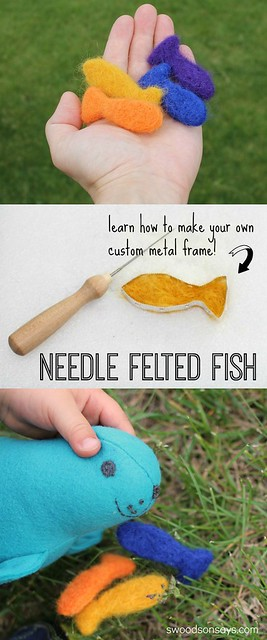 Needle Felted Fish and Felt Seal Softie