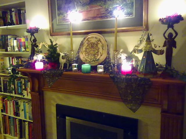 Winter Solstice hearth 2015